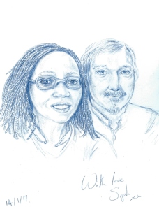 Finished Couple Portrait by Sophie E Tallis