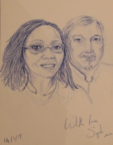 Couple Portrait by Sophie E Tallis