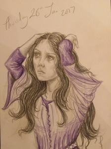 Figure study in purple by Sophie E Tallis