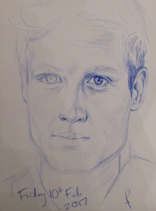 Unfinished pencil study of James Norton by Sphie E Tallis