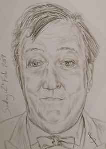 Pencil portrait of Stephen Fry