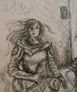 Character sketch from my short story, Silent Running by Sophie E Tallis
